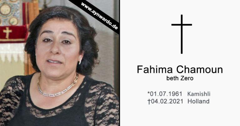 † Fahima Chamoun dbe Zero †
