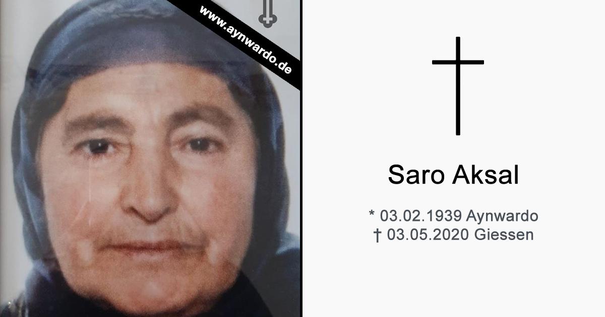 Verstorben: † Saro Aksal